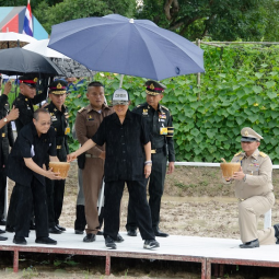 Her Royal Highness Princess Maha Chakri Sirindhorn Transplants Rice at Chulachomklao Royal Military Academy in Nakhon Nayok province