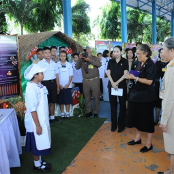 Her Royal Highness Princess Maha Chakri Sirindhorn Visits Schools under the Support of the Chaipattana Foundation in Ayutthaya Province