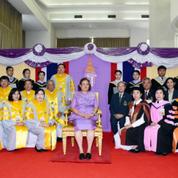 Her Royal Highness Princess Chakri Maha Sirindhorn Graciously Welcomes and Meets the Scholarship Students of the Chaipattana Foundation, and Bestows the Degree to those who Graduated in the Academic Year 2017