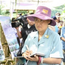 Her Royal Highness Princess Maha Chakri Sirindhorn Visits and Observes the Operation of Project on Following His Majesty's Footsteps at Fort Surasakmontri, Lampang Province