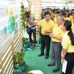 "Secretary-General of the Chaipattana Foundation Presides over the Project ""OUR Khung Bang Kachao"" at  Lat Pho Park"