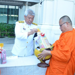 Deputy Secretary-General of the Chaipattana Foundation presided over the merit-making ceremony to mark the 100thday of the decease of His Majesty the late King BhumibolAdulyadej, Rama IX