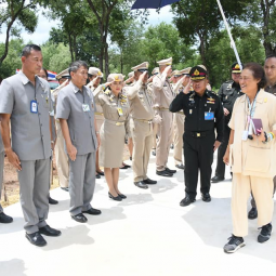 "Her Royal Highness Princess Maha Chakri Sirindhorn Observes the Operations of ""Thaharn Phandee Project (Good Soldiers)"