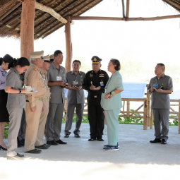 "Her Royal Highness Princess Maha Chakri Sirindhorn Proceeds to Observe the Operation Progress of ""Thaharn Phandee Project (Good Soldiers)"" Vachiraprakan Military Camp, Tak Province"