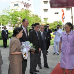 HRH Princess Maha Chakri Sirindhorn presides over the closing ceremony of the 2010 Academic Year at Chaipittayapat School of the Chaipattana Foundation