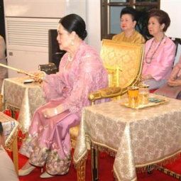 Her Majesty the Queen attends the Dedication Ceremony on Visakha Bucha Day at the Rama IX Golden JubileeTemple