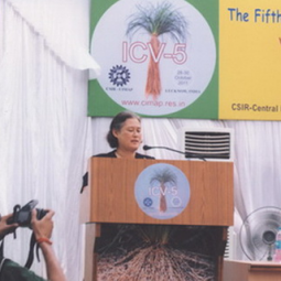 HRH Princess Maha Chakri Sirindhorn attends the Fifth International Conference on Vetiver (ICV-5), Lucknow, India