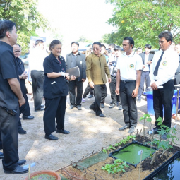 Her Royal Highness Princess Maha Chakri Sirindhorn Visits Agriculture and Forestry Development Center at Nongtao Savannakhet Sub-district, Laos PDR
