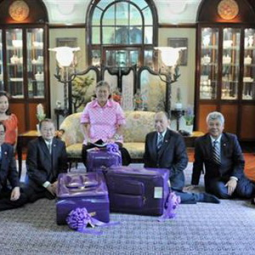 HRH Princess Maha Chakri Sirindhorn grants an Audience to the Executive Delegation of the Chaipattana Foundation at Sra Pathum Palace