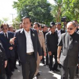 Prime Minister of Thailand Visited Rama IX Reservoir, Royally-Initiated Project of the Chaipattana Foundation